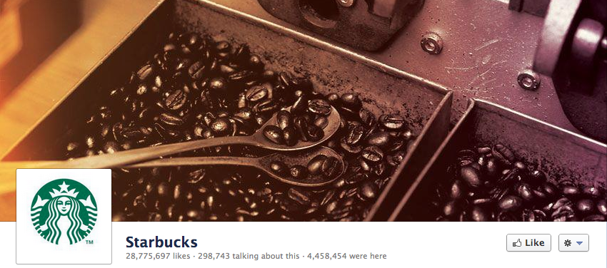 Facebook page for the starbucks