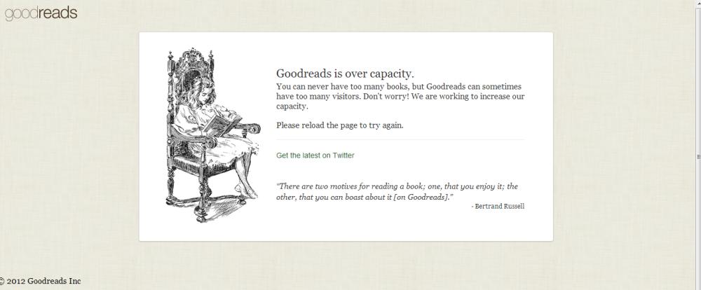 Goodreads Overcapacity