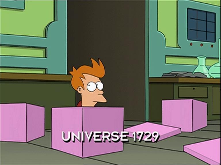 Futurama. 1729 connection: Quite interesting