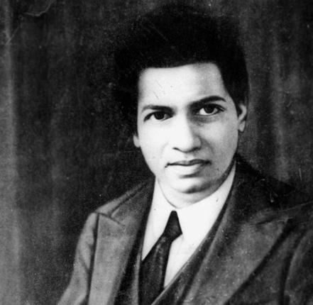 Portrait of Ramanujan, image credits: The Hindu