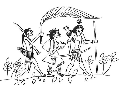 Ram, Sita and Laskman during their Vanvas