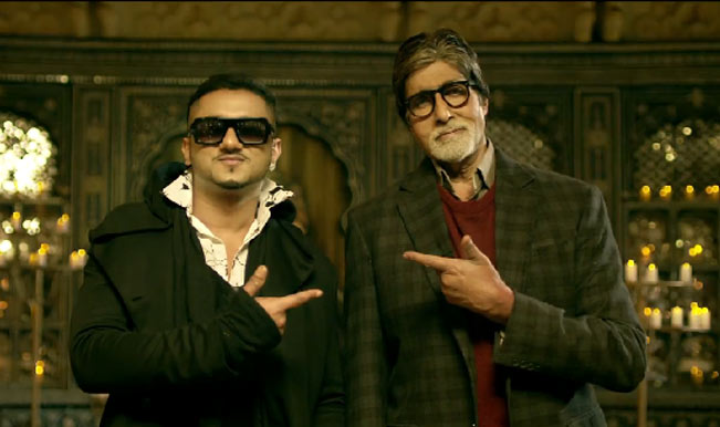Honey Singh sharing screen with Amitabh