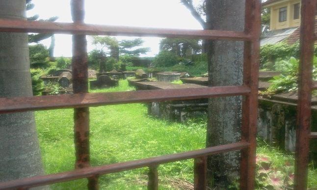 View from the Gate of the Dutch Cemetery