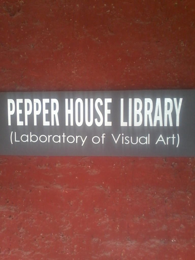 In the Pepper House Cafe resides the Library of Visual Art