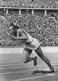 Jesse Owens in Berlin Olympic, 1936