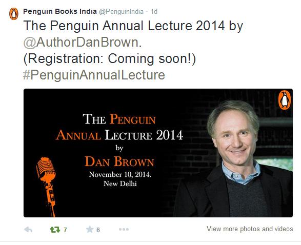 Tweet by Penguin Publication