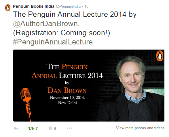Tweet by Penguin Publication