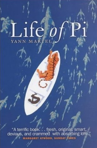 Book Cover of Life of Pi. Also, a major motion picture