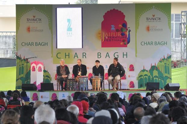 JLF- On going session with Co-director William Dalrymple in center